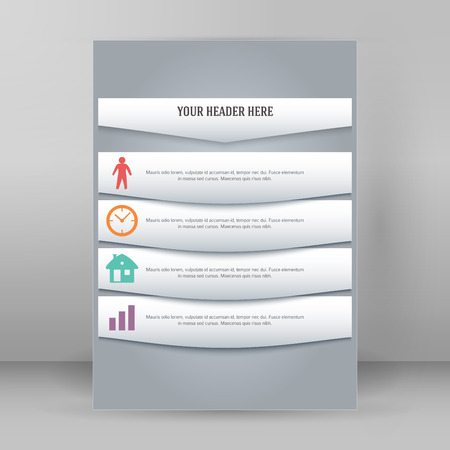 Modern Design style infographics template on steps up to success background with copy space place for your text. Illustration