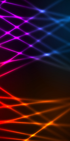 Fashion lights background of bright glowing blur effect lines circle with space place for your text. Illustration