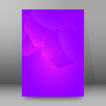 Fashion blurry background of bright glowing perspective. Purple with space for your message. Illustration