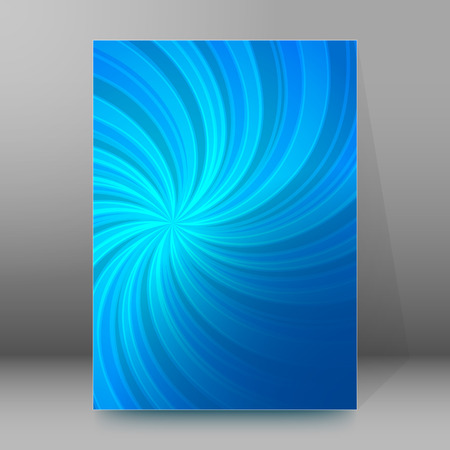 Abstract spiral background of bright glow perspective with lighting blue twist lines. Can be used for business brochure, flyer party, design banners, cover book, label