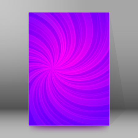 spiral book: Abstract spiral background of bright glow perspective with lighting purple twist lines. Can be used for business brochure, flyer party, design banners, cover book, label Illustration