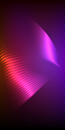Abstract spiral background of bright glow perspective with lighting blue purple lines. Vector Illustration Illustration