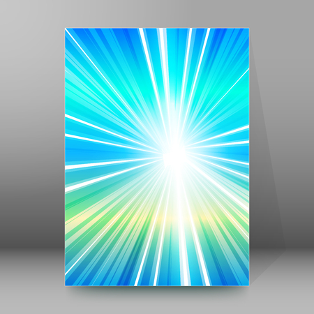 Summer background with rays sun light. Hot with space for your message. Blurry illustration for design presentation, brochure layout page, cover book or magazine team farming