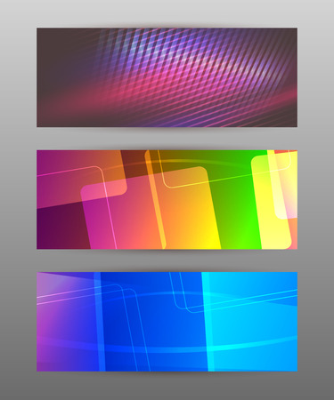 context: Design elements business presentation template. Set horizontal banners background, backdrop glow light effect. Vector illustration
