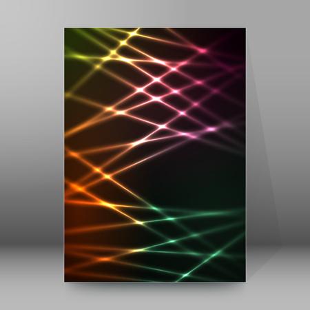 Design elements business presentation template. Vector illustration vertical web banners background, backdrop glow light effect . for web template, web site page presentation