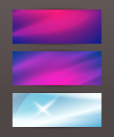 Design elements business presentation template. Set horizontal banners background, backdrop glow light effect. Vector illustration for web buttons template Illustration