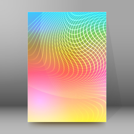 affiche: Abstract background advertising brochure design elements. Blurry light glowing graphic form for elegant flyer. Vector illustration for booklet layout, wellness leaflet, newsletters