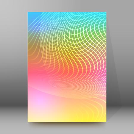 broadside: Abstract background advertising brochure design elements. Blurry light glowing graphic form for elegant flyer. Vector illustration for booklet layout, wellness leaflet, newsletters
