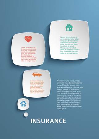 the view option: Modern Design infographic style template on white background with numbered 3d effect square. Vector illustration for new product newsletters, web banners, pages presentation
