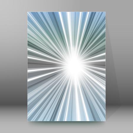 Gray background advertising brochure design elements. Glowing light stripe oblique graphic form for elegant flyer. Illustration