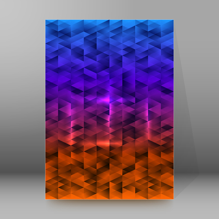 Abstract background advertising brochure design elements. Blurry light glowing graphic form for elegant flyer. Vector illustration for booklet layout, wellness leaflet, newsletters
