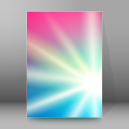 affiche: Abstract background advertising brochure design elements. Blurry light glowing graphic form for elegant flyer. Illustration