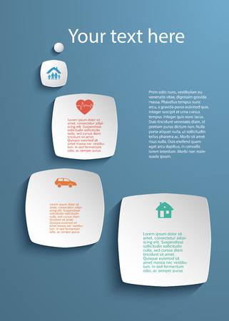 Business Service Steps Options Modern Design Style Infographic Template Illustration Of Different Kinds Insurance Can Be Used