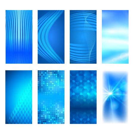 erect: Design elements presentation template. Set vertical banners background, backdrop glow light effect. Vector illustration  for web buttons template, business card layout, web site element