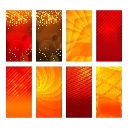 erect: Design elements presentation template. Set vertical banners background, backdrop lines glow light effect. Vector illustration   for web buttons template, business card layout, web site element