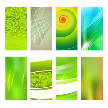 erect: Design elements presentation template. Set vertical banners background, backdrop blur glow light effect. Vector illustration Illustration