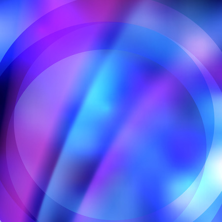 Abstract dreamy background of bright glow perspective with lighting blue circle lines.