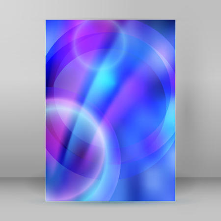 lighten: Abstract dream background of bright glow perspective with lighting blue circle lines. Illustration