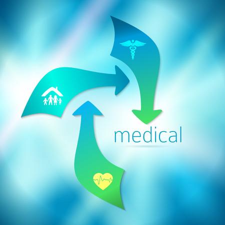 mapa de procesos: Blue medical background abstract - concept health care or medicine technology.