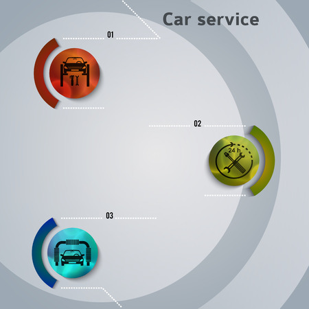 Car service background business presentation template with ribbon banner vertical.