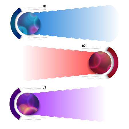 diagrama de flujo: infografías de lo moderno diseños elemento horizontal de la bandera en el fondo gris.