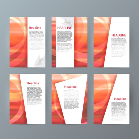 upright: Design elements presentation template. Set vertical banners background, backdrop blur glow light effect. Vector illustration EPS 10 for web buttons template, business card layout, web site element