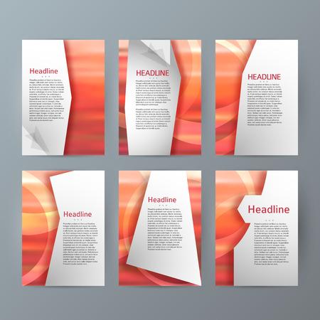 erect: Design elements presentation template. Set vertical banners background, backdrop blur glow light effect. Vector illustration EPS 10 for web buttons template, business card layout, web site element
