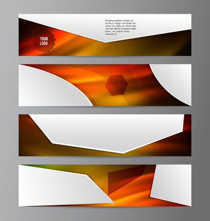 web site: Set Design elements business presentation template. Vector illustration horizontal web banners background, backdrop abstract form broken line. EPS 10 for web buttons template, web site page heading Illustration