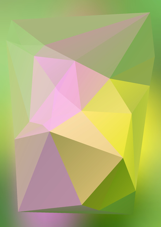 lighting background: Geometric colors gradient background of bright perspective with lighting glowing triangle 3d effect crystal lattice. Graphic image template.
