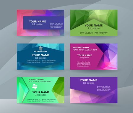 Abstract professional and designer business card one sided template or clear and minimal visiting card set, name card. Illustration