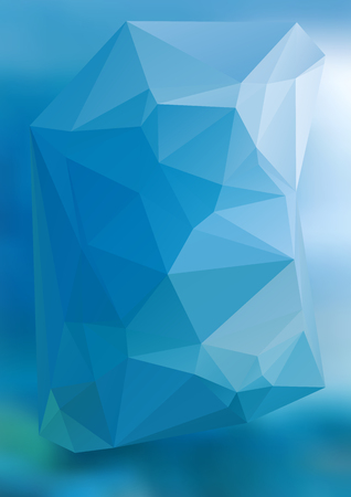 lighting background: Geometric blue gradient background of bright perspective with lighting glowing triangle 3d.