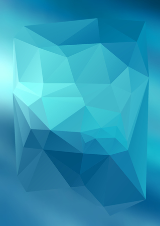 lighting background: Geometric blue gradient background of bright perspective with lighting glowing triangle 3d effect crystal lattice. Illustration