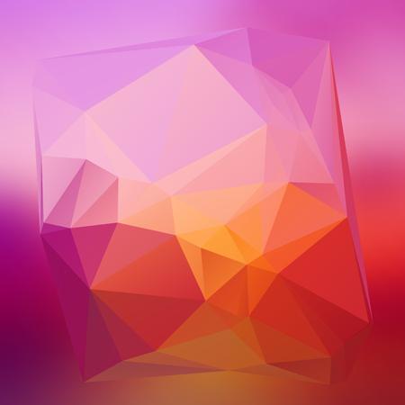 Fractal triangle geometrical beautiful background. Geometric background in Origami. Illustration