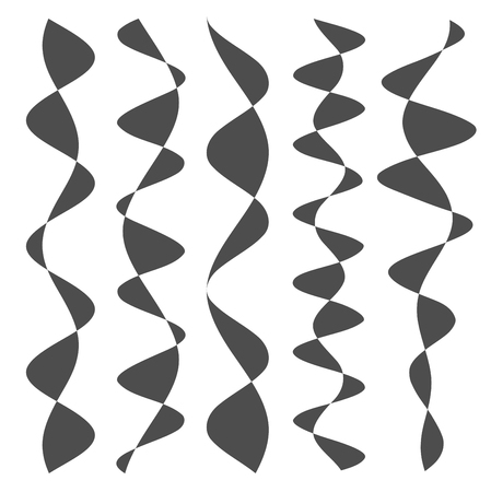 Design element curves crossing superposed forms abstract forms a repeating pattern for background grunge detail. Vector illustration EPS 10 for cover page backdrop, graphics elements lines
