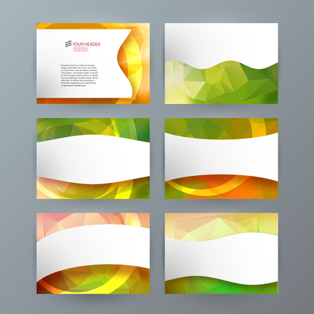 Business templates for multipurpose presentation slides. Easy editable vector layouts. Set of 6 design brochure flyer marketing and advertising, Annual report mockup graphic design EPS 10