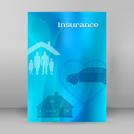 Modern Design style infographic mockup. Vector illustration of different types insurance. Illustration