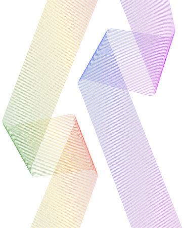 Curved sharp wavy corners illustration. Illustration