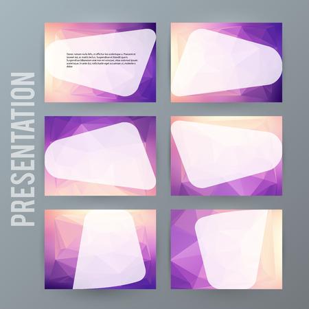 Colorful presentation template.