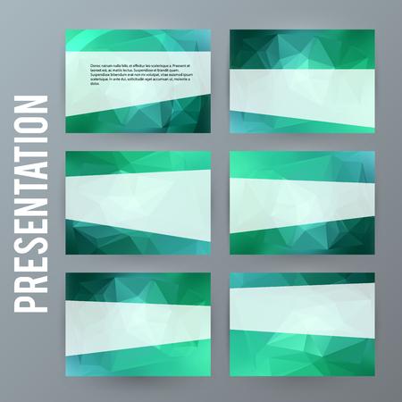 Presentation template for business. Ilustração