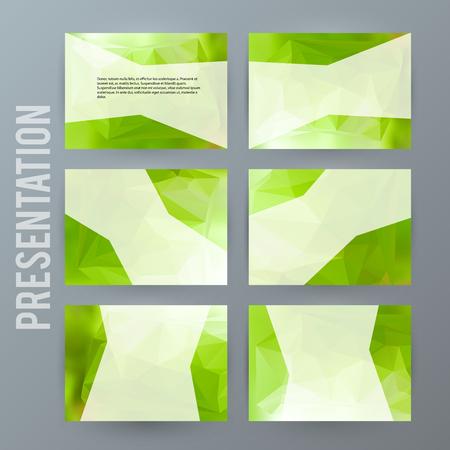Design elements presentation template.