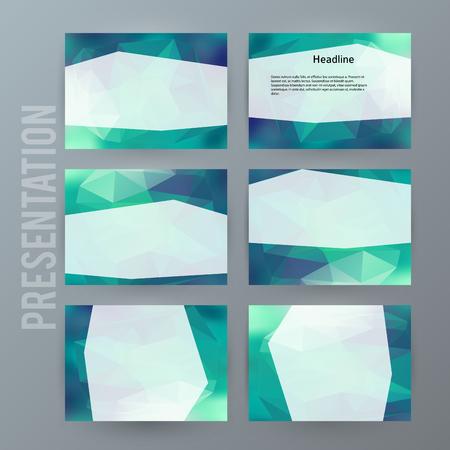Presentation template design.