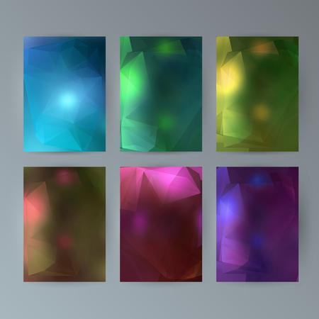 Colorful presentation template design. Ilustração