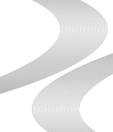 Wavy curve abstract design. Illustration