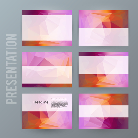 Presentation template design. Imagens - 88698246