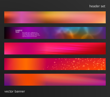 Colorful modern template design. Illustration