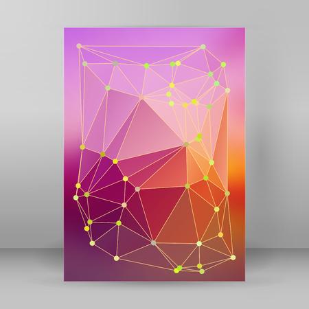Colorful geometric template design.