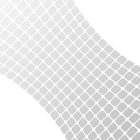 Modern geometrical grey halftone background of bright glowing perspective with squares. Gorgeous graphic image template white black tone. Abstract vector Illustration for your business brochure Illustration