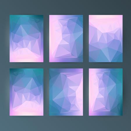 Design elements presentation template. Set vertical banners colors background, backdrop glow light effect. Vector illustration EPS 10 for web banner template, business card layout, web site element Imagens - 93007321