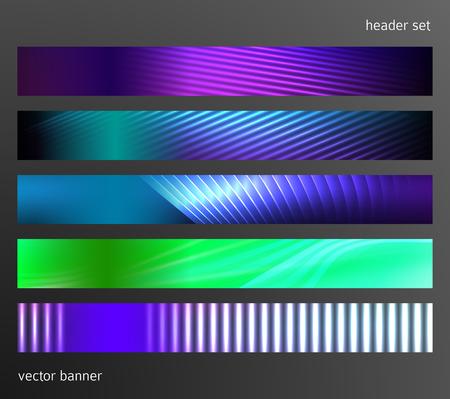 Définir le modèle de présentation d'affaires des éléments de conception. Arrière-plan de vecteur web illustration bannière horizontale, forme floue abstraite de toile de fond. EPS 10 pour le modèle de boutons web, présentation de la page web