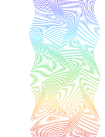 Design elements. Abstract wavy stripes on white background isolated. Vector illustration EPS 10. Colourful shiny waves with lines.